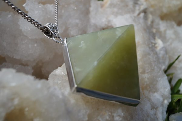 New Jade Pyramid Necklace